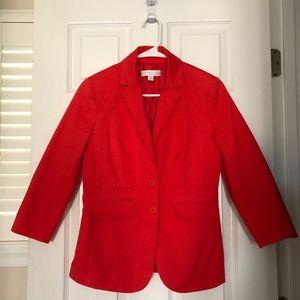 New York and Company Red Blazer